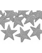 Dekoracje brokatowe Gwiazdka