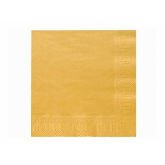 Serwetki trójwarstwowe złote