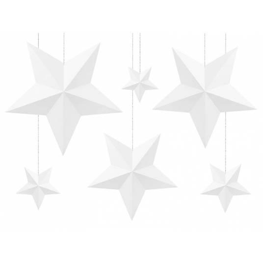 Dekoracja wisząca białe Gwiazdy
