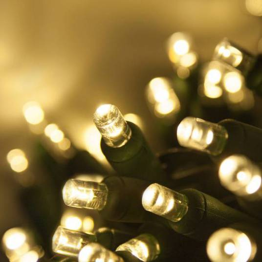 Lampki choinkowe LED białe ciepłe