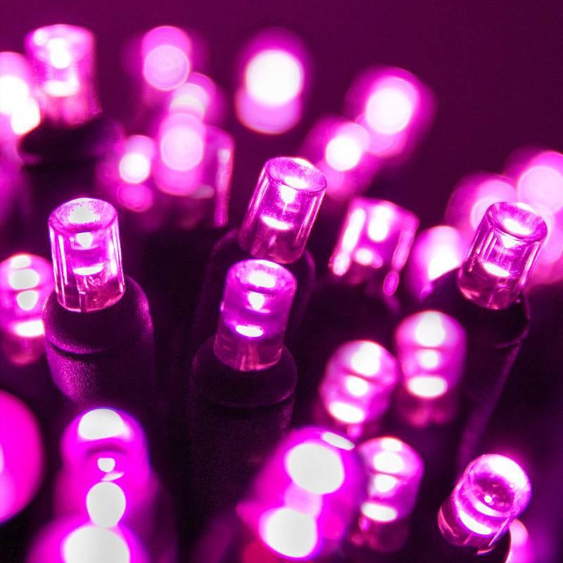 Lampki choinkowe LED różowe