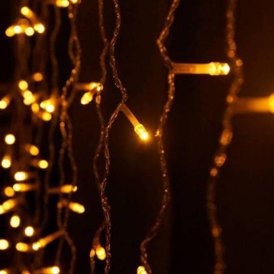 Sople kurtyna LED białe ciepłe