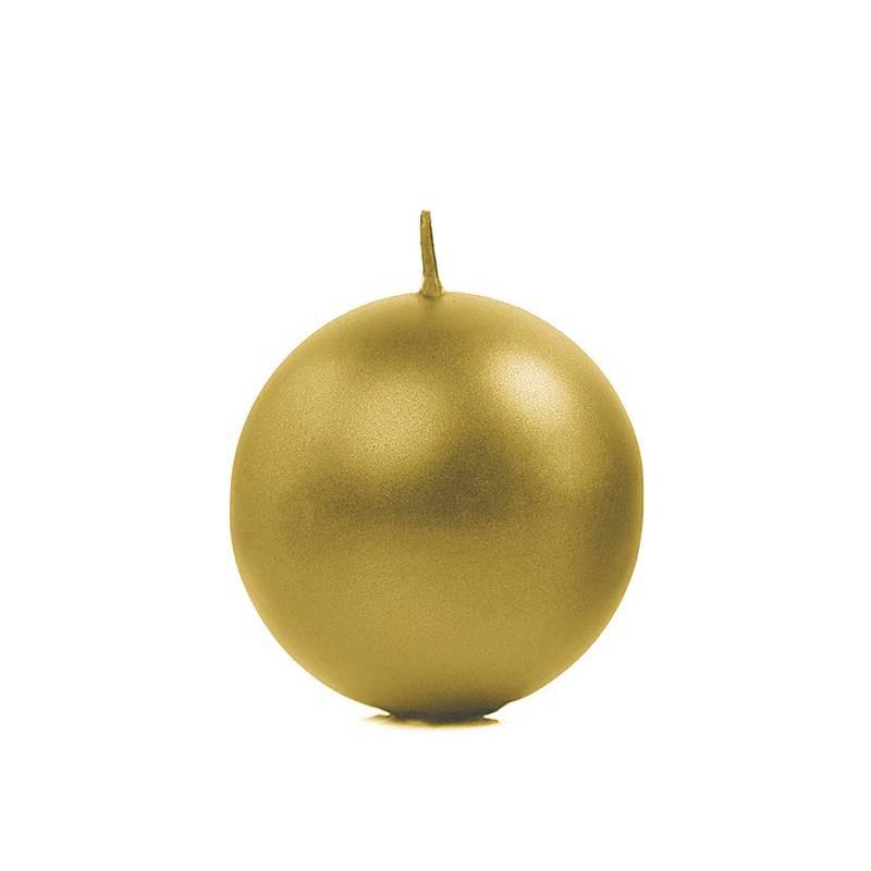 Świeca Kula Złota 8 cm