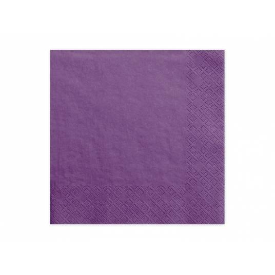 Serwetki trójwarstwowe fioletowe