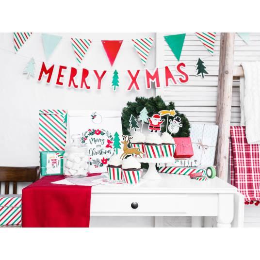 Girlanda Merry Xmas - Flagietki, 1,3m