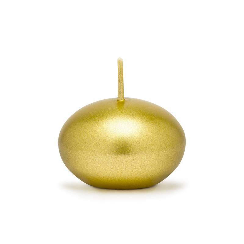 Świeca pływająca złota 4 cm