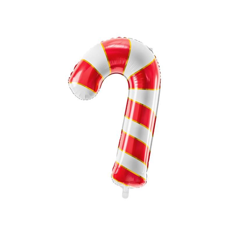 Balon foliowy Cukrowa laska, 50x82cm, czerwony