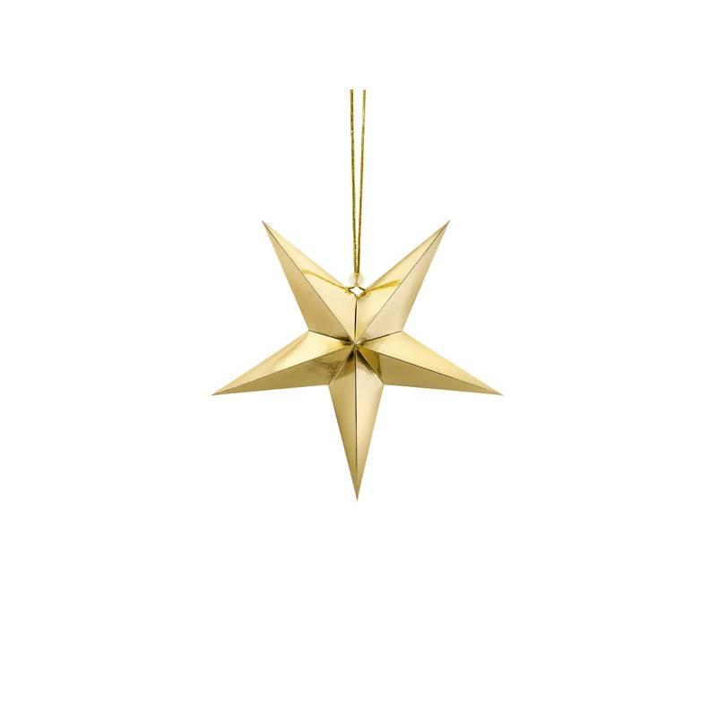 Gwiazda papierowa, 30cm, złoty