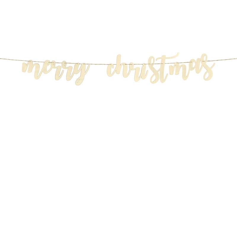 Drewniany baner Merry Christmas