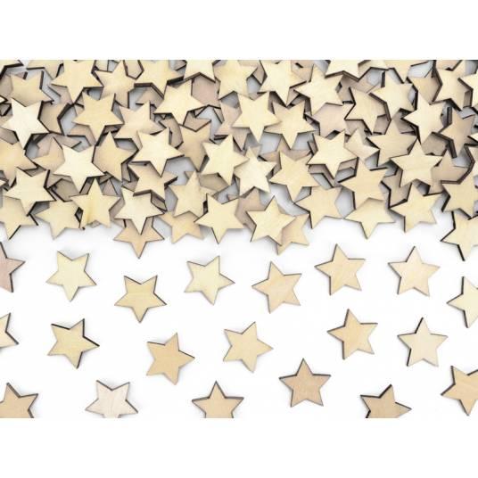 Drewniane konfetti Gwiazdki