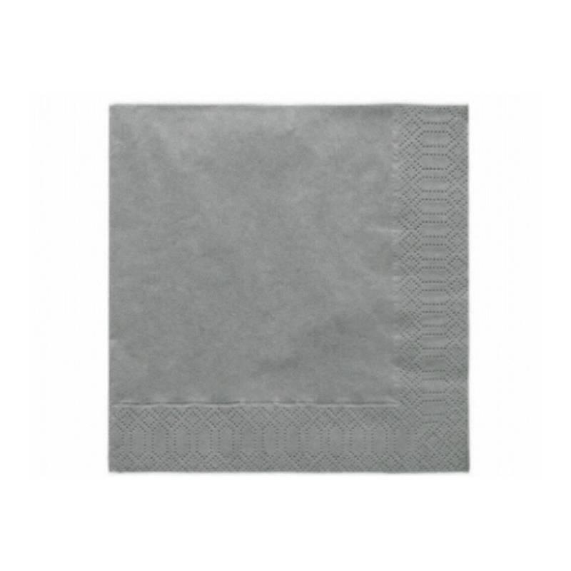 Serwetki trójwarstwowe srebrne