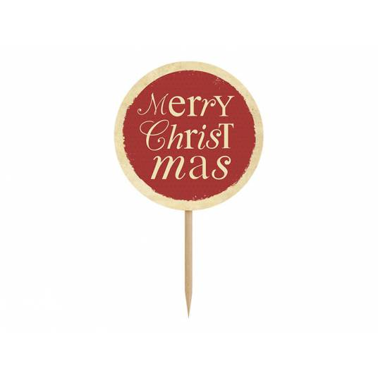Karteczki na piku Merry Christmas