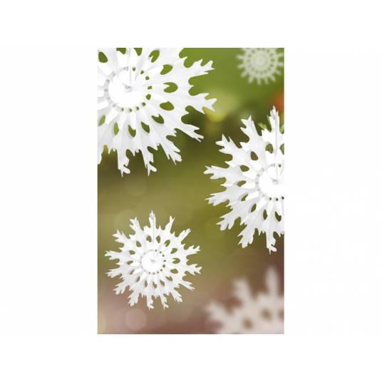 Rozeta bibułowa Śnieżynka 25 cm