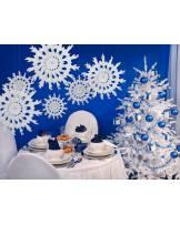 Rozeta bibułowa Śnieżynka 45 cm