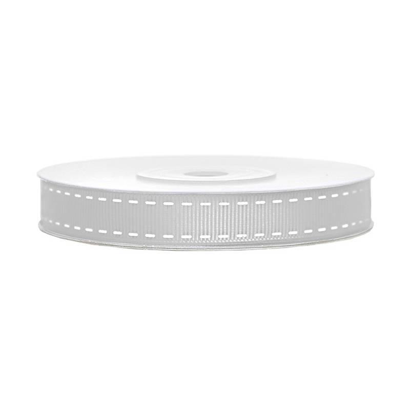Tasiemka rypsowa srebrna 15 mm 25 m