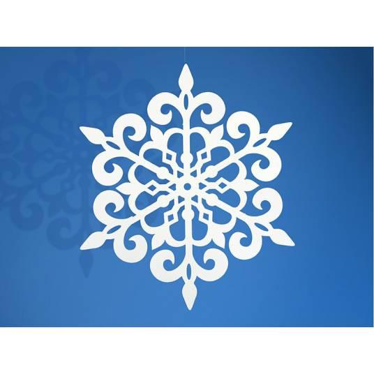 Papierowa Śnieżynka 11 cm