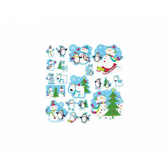 Dekoracje wycinane Joyful Snowman