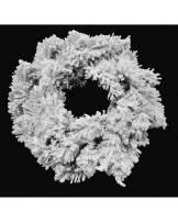 Wianek śnieżony z brokatem